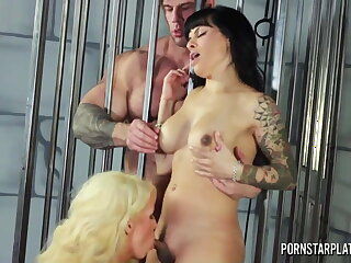 PornstarPlatinum - Alura Jenson 3way with Tranny