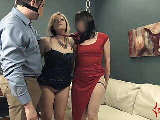 Extreme ass to mouth and ATOGM for nasty bondage sluts