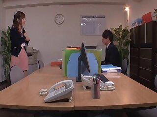 Two guys convoke to delight horny pussy of Yu Namiki