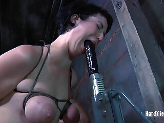 Amateur indulge Niki Nymph gets her saggy tits painful by a perv
