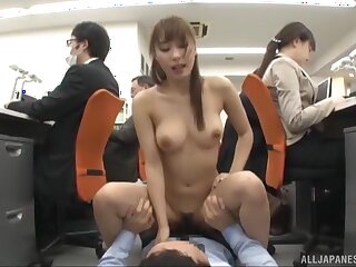 Incredible fucking anent the office uninterruptedly oversexed guys plus Ayami Shunka