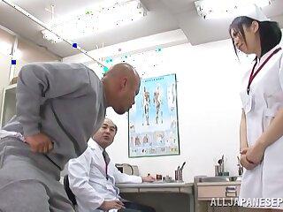Hot ass Japanese nurse Yuuka Tsubasa gets fucked in the butt