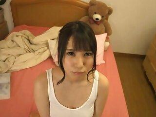 POV homemade flick pf pretty wife Sonoda Mion giving a blowjob