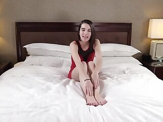 Coy Amateur Teen Roguish Generation Casted in her Pussy