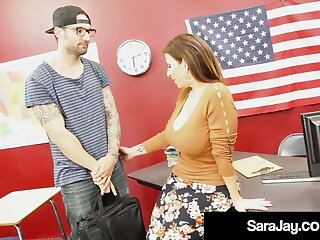 Thick Teacher Sara Jay Banged & Jizzed On By Horny Student!