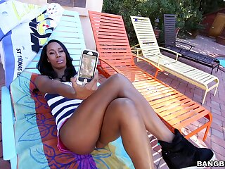 Ebony loads endless BBC in both her thick holes